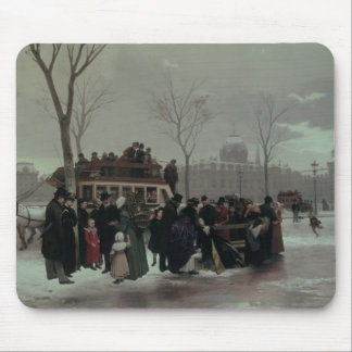 Paris Bus Accident Mouse Mat