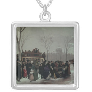 Paris Bus Accident Silver Plated Necklace