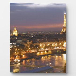 Paris by Night Photo Plaque