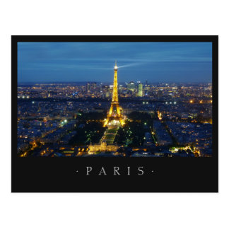 Paris By Night postcard