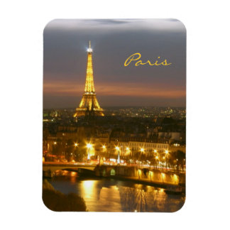 Paris by Night Rectangular Photo Magnet