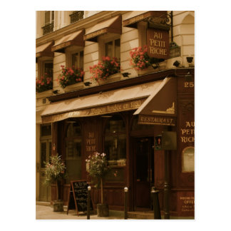Paris Cafe by Day Postcard