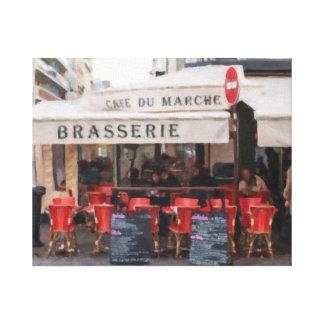 Paris Cafe on Rue Cler Gallery Wrap Canvas Art