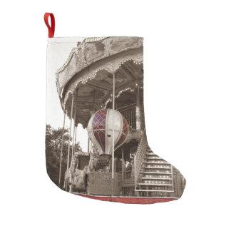 Paris Carousel Small Christmas Stocking