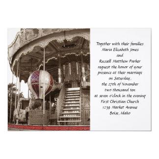Paris Carousel Wedding 13 Cm X 18 Cm Invitation Card