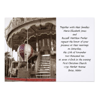 Paris Carousel Wedding Personalized Announcements
