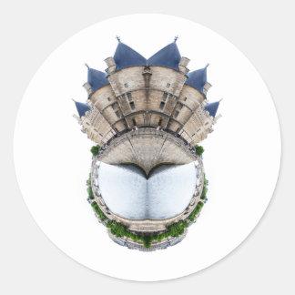 Paris Castle Ring Round Stickers
