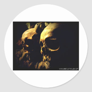 Paris Catacombs by April A Taylor Round Sticker