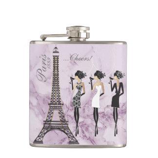 Paris Celebration Flask on Purple Marble