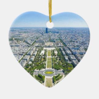 Paris Ceramic Heart Decoration