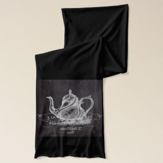 Paris Chalkboard scripts Tea party french country Scarf