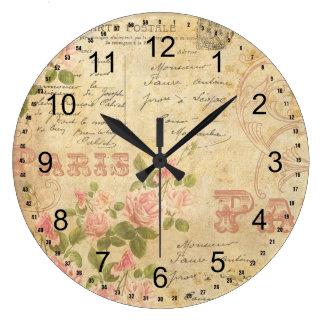 Paris Chic Large Clock