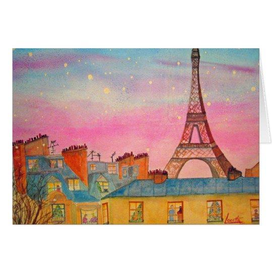 Paris Christmas Card