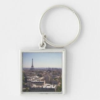 Paris cityscape Paris France Key Chains