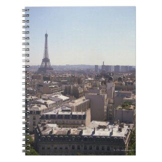 Paris cityscape,  Paris,  France Spiral Notebook