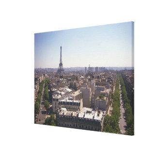 Paris cityscape,  Paris,  France Stretched Canvas Prints