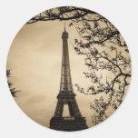 Paris Classic Round Sticker