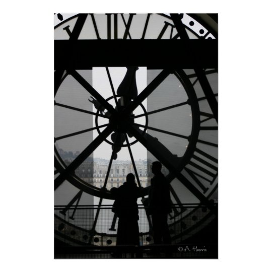 Paris Clock Poster