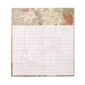 Paris collage notepad