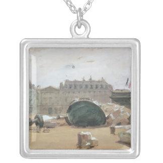 Paris Commune Silver Plated Necklace