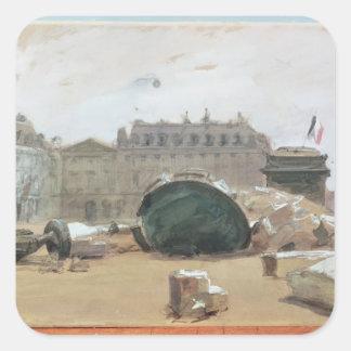 Paris Commune Square Sticker