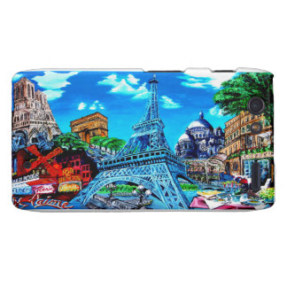 _Paris cover for Motorola Razr, Barly There