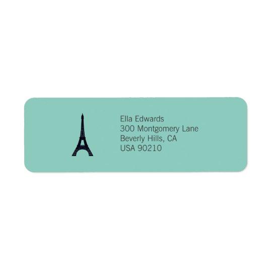 Paris Customisable Return Address Label