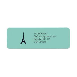 Paris Customizable Return Address Label