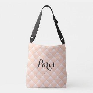 Paris Diamond Quilt Pattern Modern Crossbody Bag