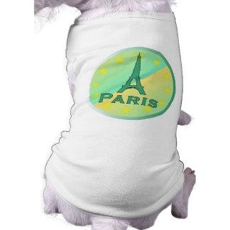 Paris Sleeveless Dog Shirt