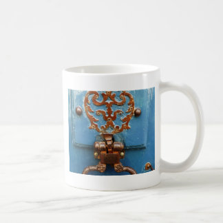 Paris door coffee mug