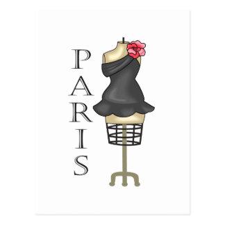 PARIS DRESS FORM POSTCARD
