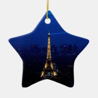 Paris Eifel Tower At Night Christmas Ornament