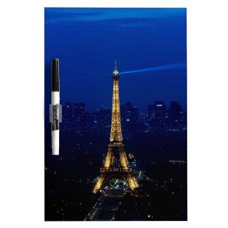 Paris Eifel Tower At Night Dry Erase Board
