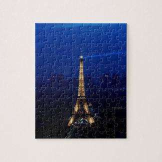 Paris Eifel Tower At Night Jigsaw Puzzle
