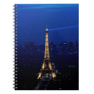 Paris Eifel Tower At Night Notebook