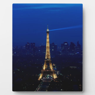 Paris Eifel Tower At Night Plaque