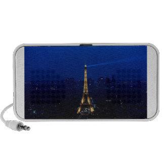 Paris Eifel Tower At Night Portable Speaker