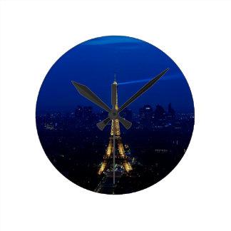 Paris Eifel Tower At Night Wallclock