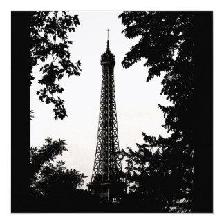"Paris Eifell Tower Theme Multi Purpose Invites 5.25"" Square Invitation Card"
