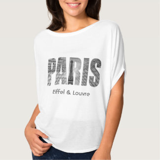 Paris - Eiffel & Louvre T-Shirt