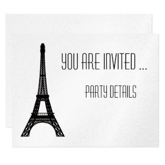 Paris Eiffel Tower 11 Cm X 14 Cm Invitation Card
