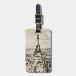 Paris: Eiffel Tower, 1900 Luggage Tag