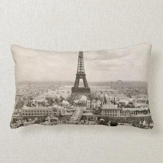 Paris: Eiffel Tower, 1900 Lumbar Cushion