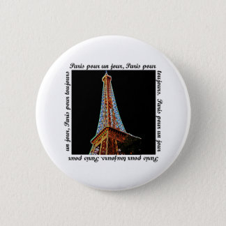 Paris Eiffel Tower 6 Cm Round Badge