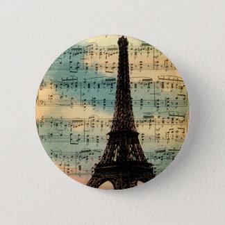 Paris Eiffel Tower 6 Cm Round Badge