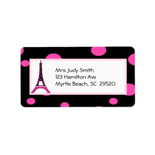 Paris Eiffel Tower Address Labels
