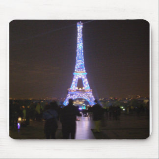 Paris Eiffel Tower at Night Mouse Mat