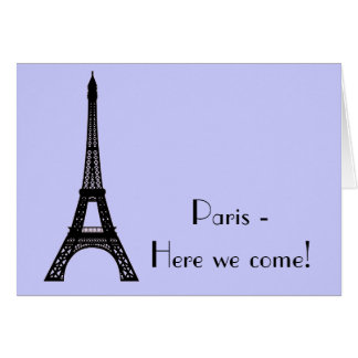 Paris Eiffel Tower Card