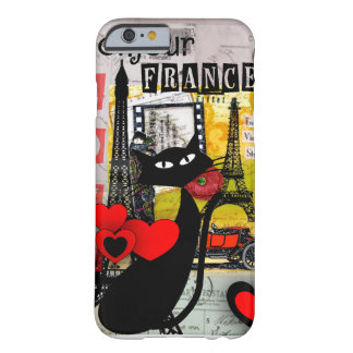 Paris Eiffel Tower Cat Lovers gifts Barely There iPhone 6 Case